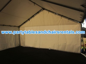 20x20 White Tents for Rent (interior)
