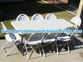 6' White rectangular folding tables for sale los angeles ca
