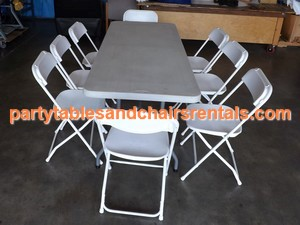 6' Party folding tables and chairs for sale los angeles ca