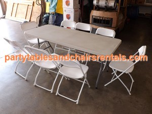 6' Party folding tables and chairs for sale Los Angeles y Azusa